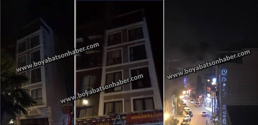 Sinop'ta Tersane Mevkiinde Bulunan Bir Otelde Yangın Çıktı