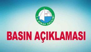Sinop Valiliğinden Basın Açıklaması