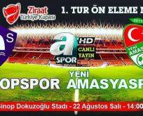 SinopSpor Maçı A Spor'da