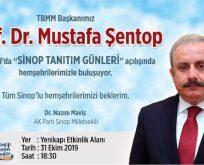 TBMM BAŞKANI SİNOP TANITIM GÜNLERİ AÇILIŞINDA
