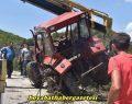 Boyabat'ta Traktör Kazası Meydana Geldi