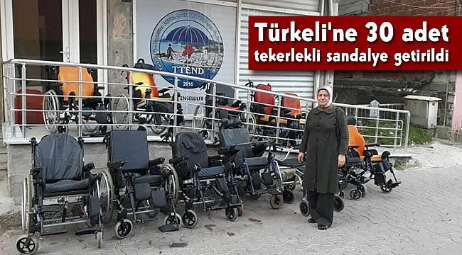 Türkeli'ne 30 adet tekerlekli sandalye getirildi