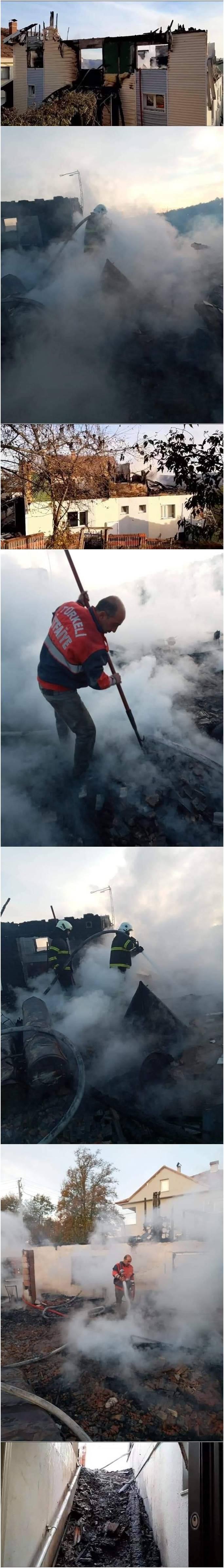Türkeli İlçesi Akcabük Köyü Yukarı Marbel Mahallesi nde Mehmet AYHAN a ait evde gece 04.20 sıralarında yangın meydana geldi.