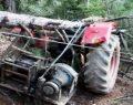 Köyde Traktörün Üstüne Ağaç Devrildi