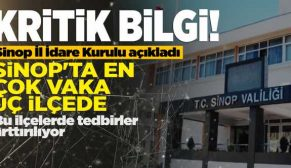 Valilik açıkladı: SİNOP'TA EN ÇOK VAKA 3 İLÇEDE