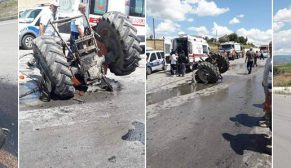 Vezirköprü Durağan Karayolunda Feci Kaza.9 Yaralı