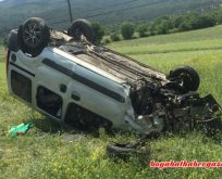 Araç Takla Attı. 5 Yaralı. Lütfen Dikkat