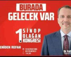 DR.FATİH ERBAKAN SİNOP' A GELİYOR.